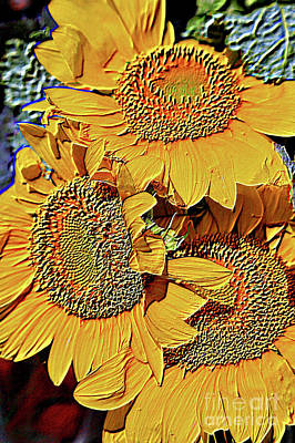 Photograph - Homage To Vincent's Sunflowers by Carol Groenen