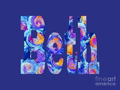 Digital Art - Beth by Corinne Carroll