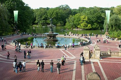 Break Of Day Photograph - Bethesda Fountain In Central Park, New by Danita Delimont