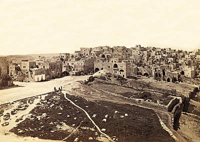Photograph - Bethlehem 1866 by Munir Alawi
