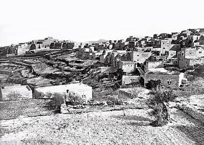 Photograph - Bethlehem 1868 by Munir Alawi