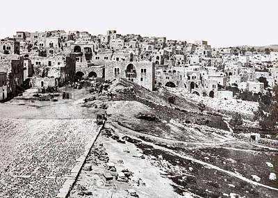 Photograph - Bethlehem Before 1860 by Munir Alawi