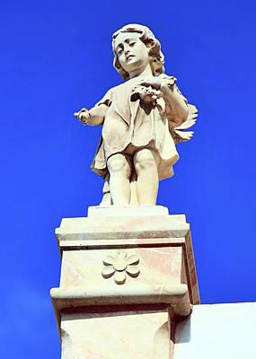 Photograph - Bethlehem Cemetery Angel by Munir Alawi