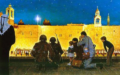 Photograph - Bethlehem Christmas Scouts by Munir Alawi