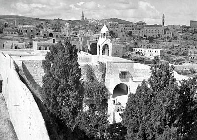 Photograph - Bethlehem City 1933 by Munir Alawi
