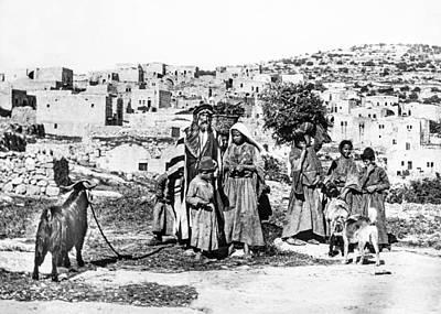 Photograph - Bethlehem Family Late 19th Century by Munir Alawi
