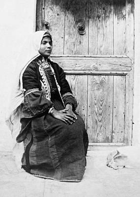 Photograph - Bethlehem Girl In 1875 by Munir Alawi