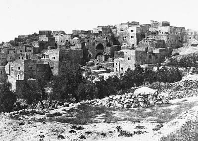 Photograph - Bethlehem In 1854 by Munir Alawi
