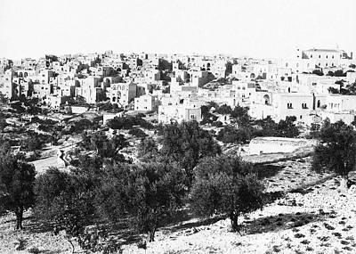 Photograph - Bethlehem In 1895 by Munir Alawi