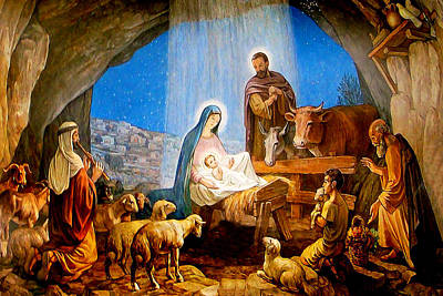 Photograph - Bethlehem Nativity Painting by Munir Alawi