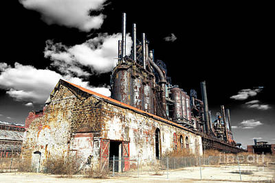 Photograph - Bethlehem Steel Mill Fusion by John Rizzuto