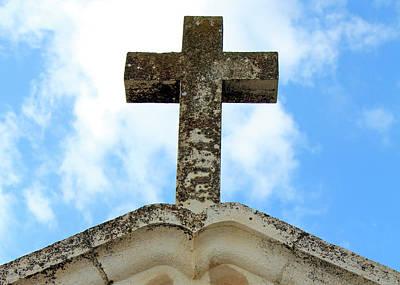 Photograph - Bethlehem Vintage Cross by Munir Alawi