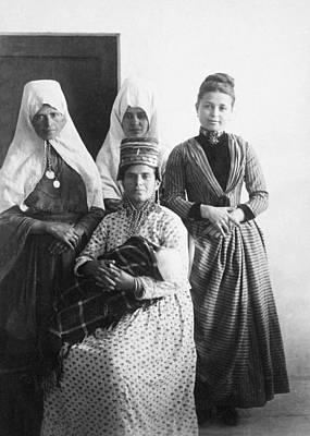 Photograph - Bethlehem Women In 1886 by Munir Alawi