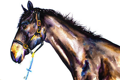 Wall Art - Painting - Betting Horse by Patrizia K Ingram