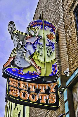 Photograph - Betty Boots # 2 - Nashville by Allen Beatty
