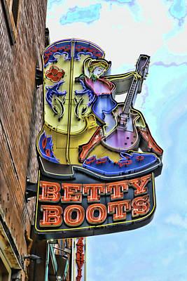 Photograph - Betty Boots - Nashville by Allen Beatty