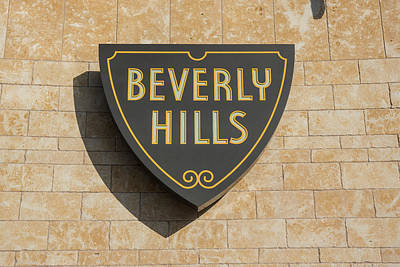 Photograph - Beverly Hills Sign  by John McGraw