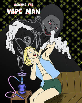 Digital Art - Beware The Vape Man by John Haldane