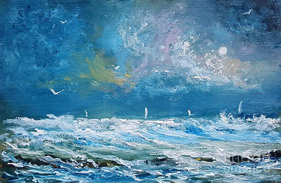 Painting - Beyond The Breakers by Fred Wilson