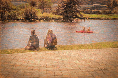 Photograph - Bffs At The River by Bill Posner