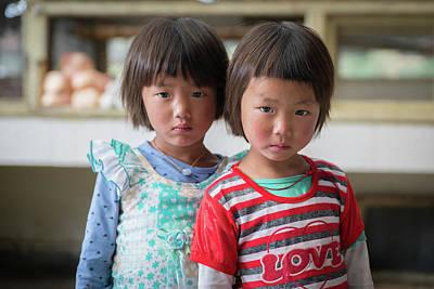 Photograph - Bhutan Twins by Ian Robert Knight
