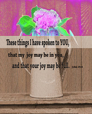 Digital Art - Bible Verses Art  130 by Miss Pet Sitter