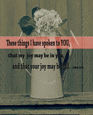 Digital Art - Bible Verses  Art 111 by Miss Pet Sitter