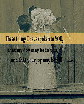 Digital Art - Bible Verses  Art 112 by Miss Pet Sitter