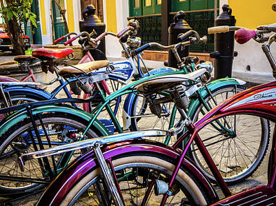 Photograph - Bicis by William Shevchuk