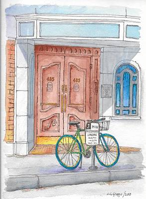 Painting - Bicycle And Portal In Beverly Hills, California  by Carlos G Groppa