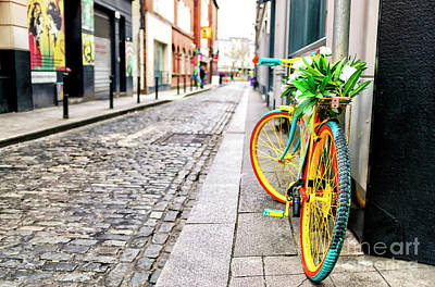 Photograph - Bicycle Colors In Dublin by John Rizzuto