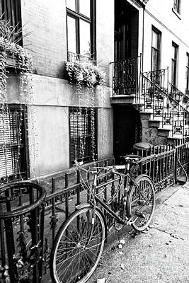 Bicycle In Greenwich Village New York City Art Print