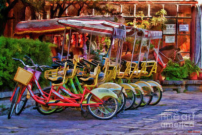 Photograph - Bicycle Or House Drawn Carriage by Blake Richards