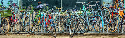 Photograph - Bicycles In Amsterdam  by Debra and Dave Vanderlaan
