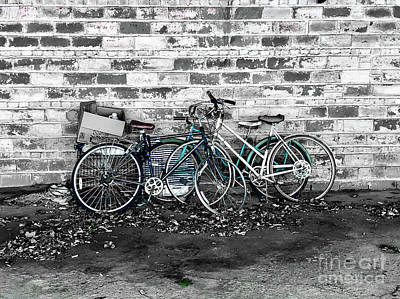 Photograph - Bicycles by Peter Tompkins