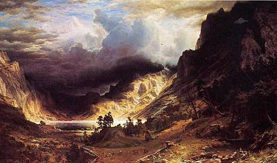 Moody Trees - Bierstadt_Albert_A_Storm_in_the_Rocky_Mountains_Mr._Rosalie by Celestial Images