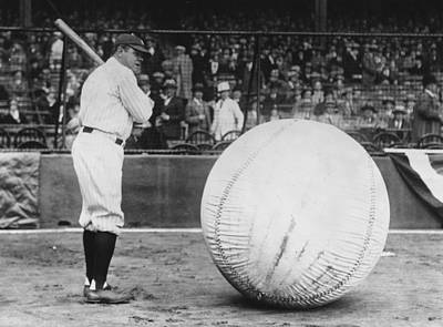 Photograph - Big Ball Player by Fox Photos