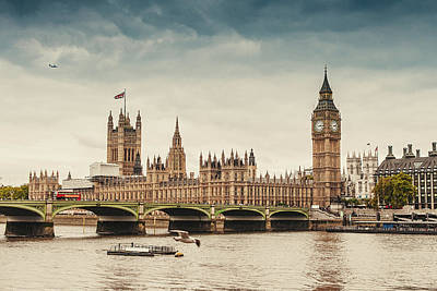 Break Of Day Photograph - Big Ben And The Parliament In London by Knape