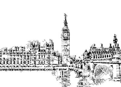 Digital Art - Big Ben by ISAW Gallery