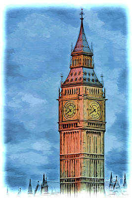 Painting - Big Ben London A1918 by Ray Shrewsberry