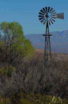 Photograph - Big Bend Windmill by Matthew Irvin