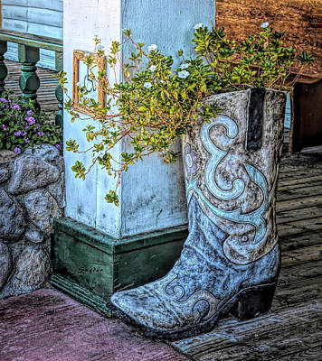 Photograph - Big Boot At Pioneer Hotel And Gambling II by Floyd Snyder