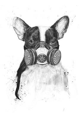 Funny Dog Wall Art - Drawing - Big City Life by Balazs Solti