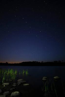 Photograph - Big Dipper over Fall Lake by Joe Miller