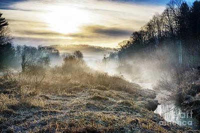 Photograph - Big Ditch Run Misty Sunrise by Thomas R Fletcher