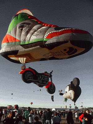 Drawing - Big Foot - Hot Air Balloon Painting by Peter Potter