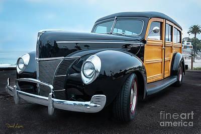 Photograph - Big Ford Deluxe Woodie by David Levin