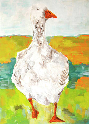 Wall Art - Painting - Big Goose by Kaley Alie