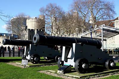 Photograph - Big Guns At The Tower Of London by Aidan Moran