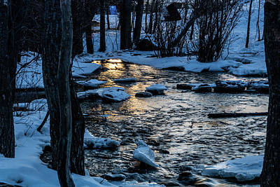 Photograph - Big Hills Springs Under Snow And Ice, Big Hill Springs Provincia by David Butler